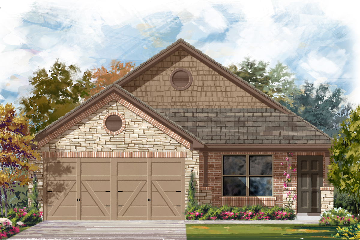 New Homes in Seguin, TX - Elevation D