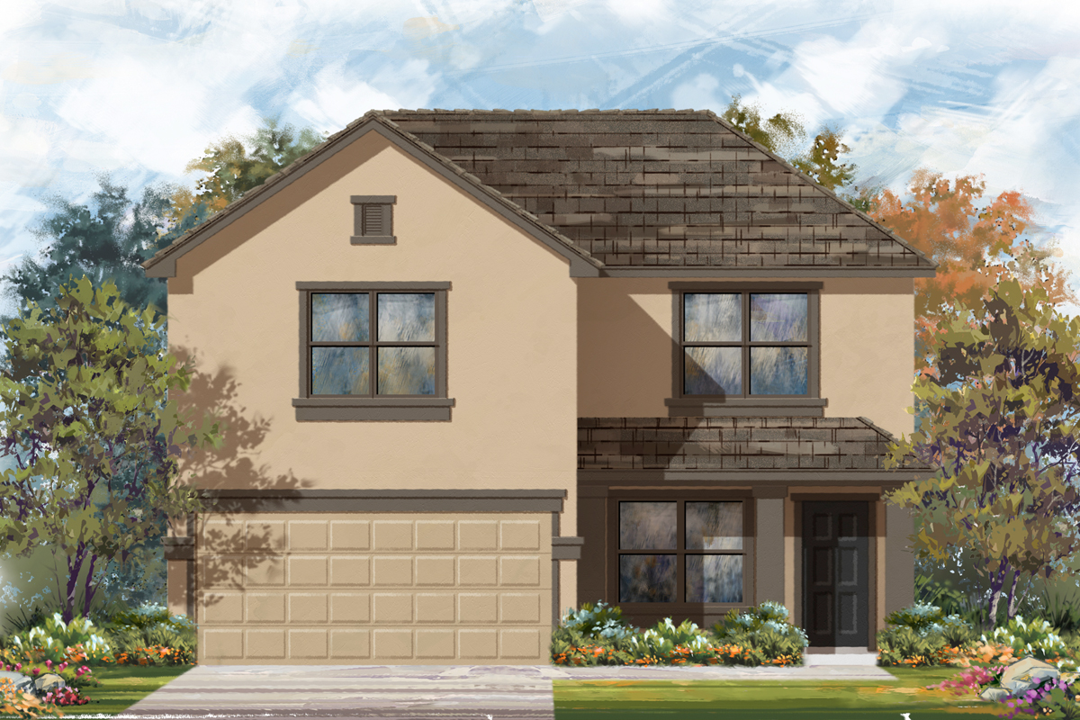 New Homes in New Braunfels, TX - Legend Point - The Reserves Plan 2177 Elevation E