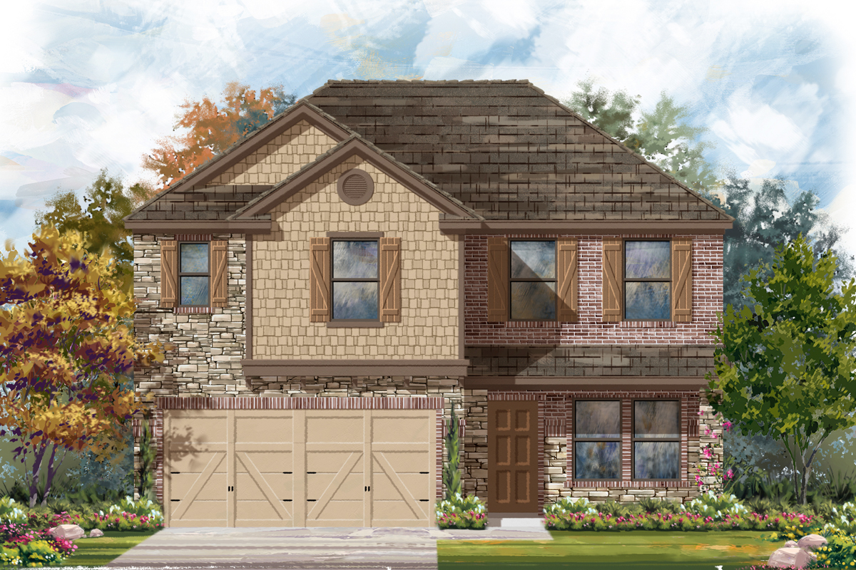 New Homes in Seguin, TX - The 2561 D