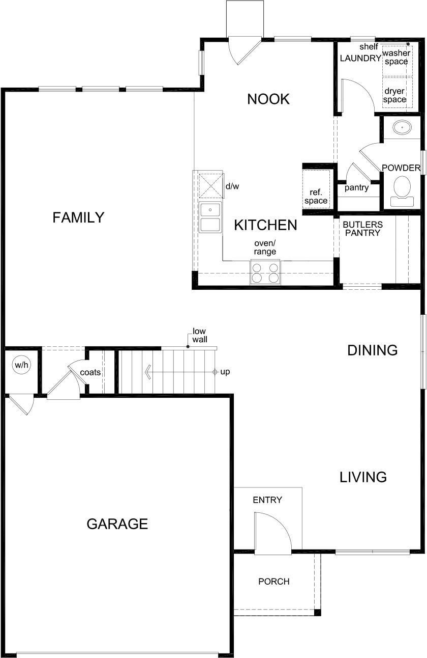 New Homes in Converse, TX - Plan 2561, First Floor