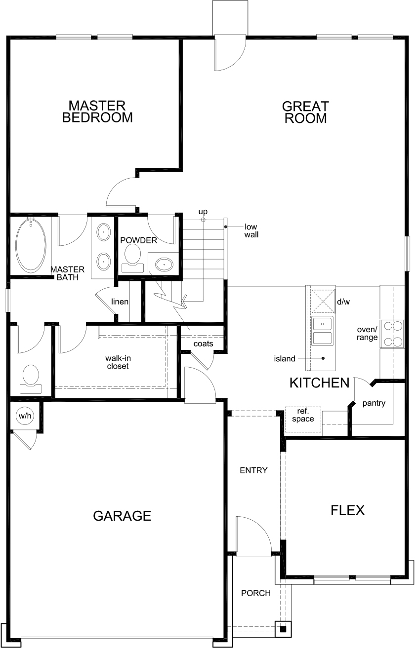 New Homes in Seguin, TX - Plan 2700, First Floor