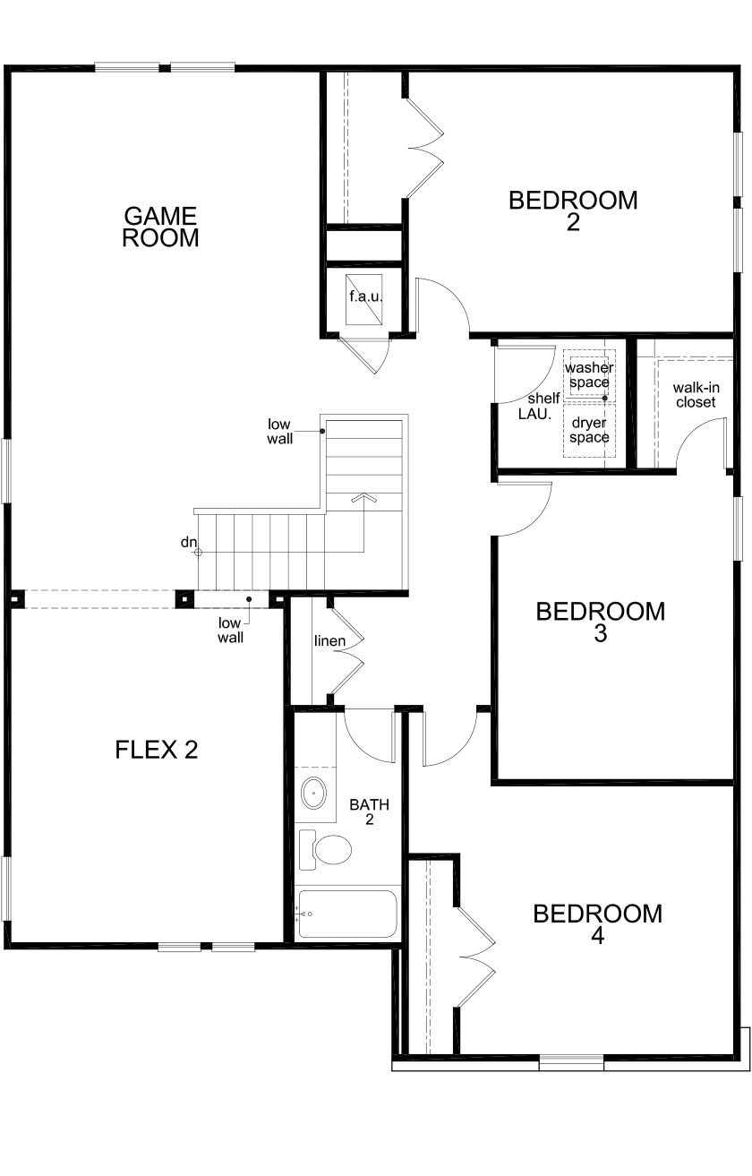 New Homes in Seguin, TX - Plan 2700, Second Floor
