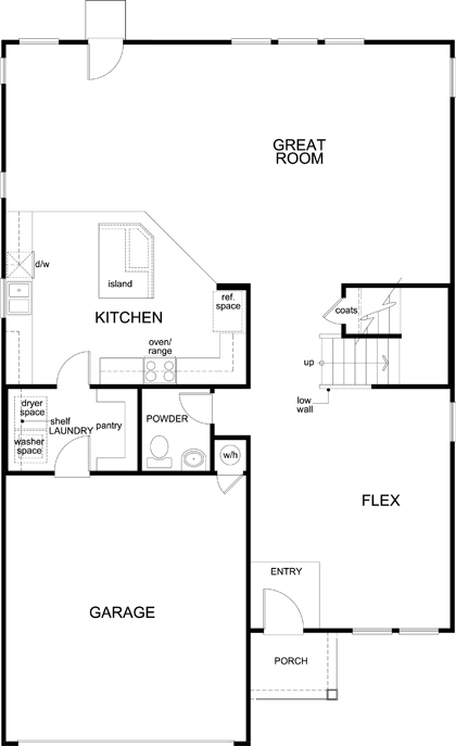 New Homes in New Braunfels, TX - Plan 2898, First Floor