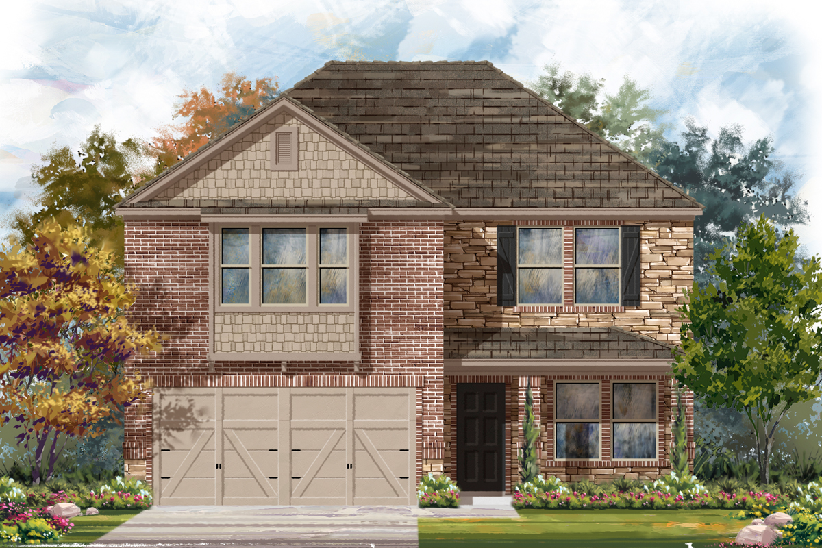 New Homes in Seguin, TX - Woodside Farms Plan 2960 Elevation D