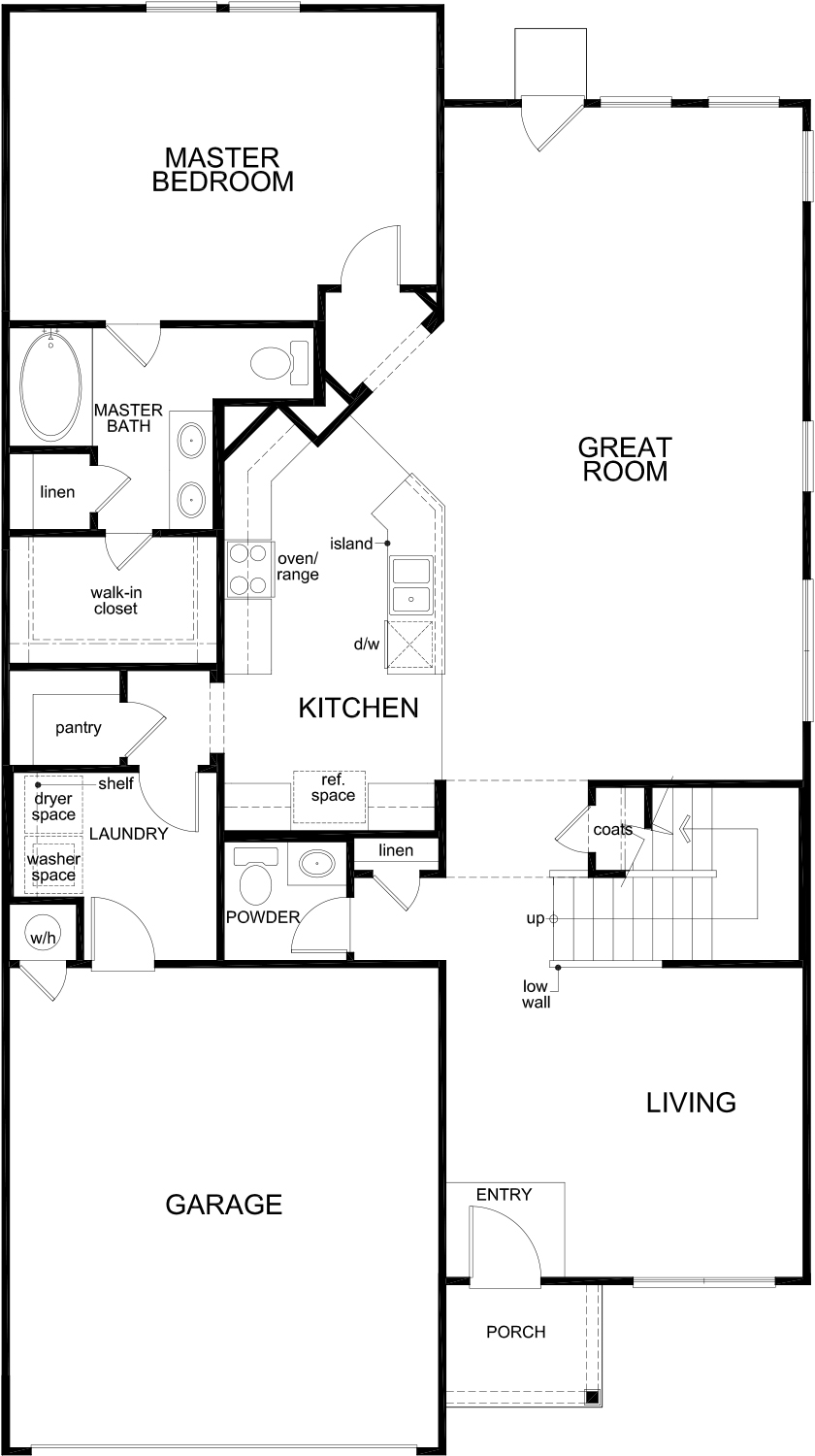 New Homes in Seguin, TX - Plan 2960, First Floor