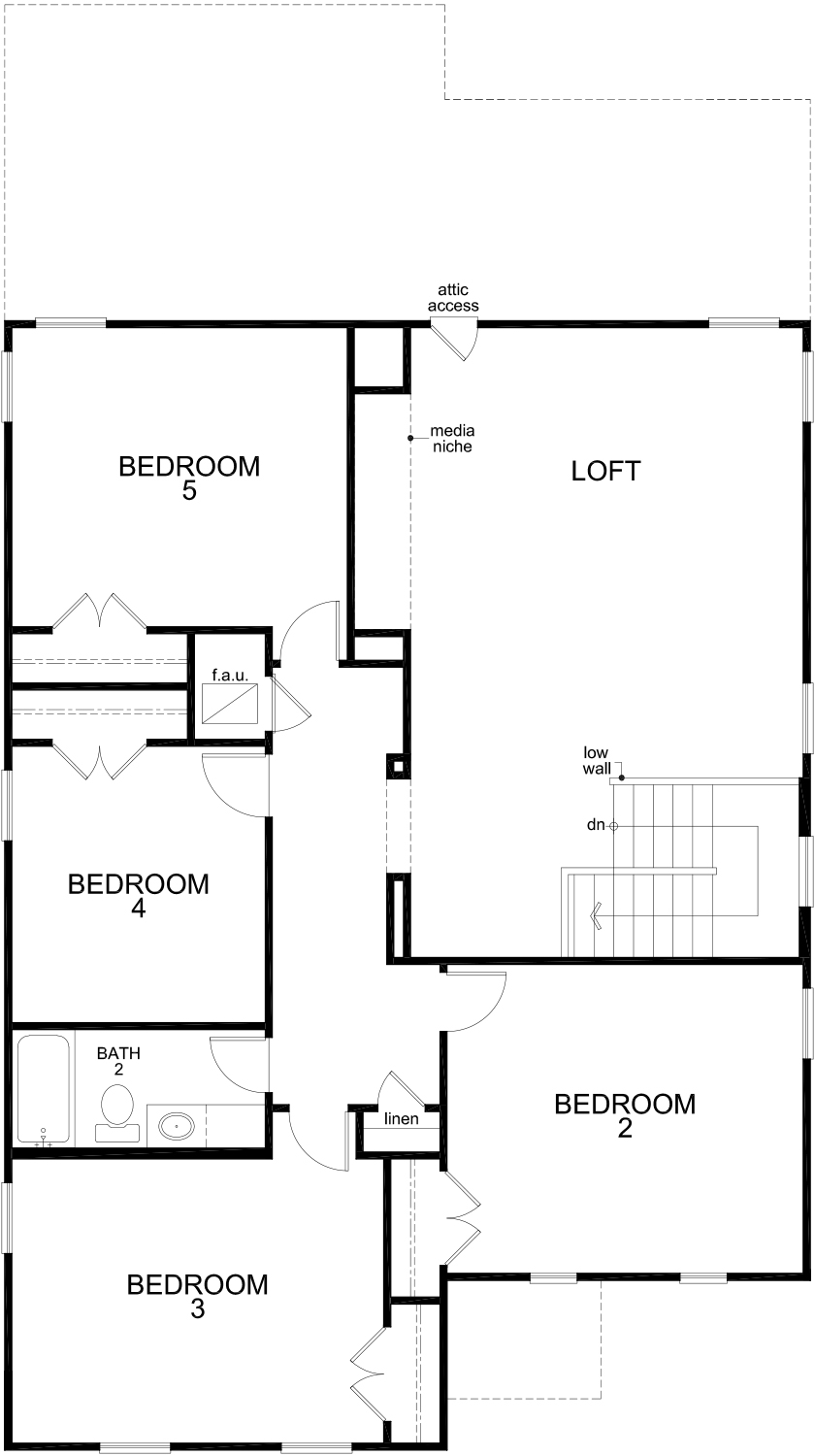 New Homes in Seguin, TX - Plan 2960, Second Floor