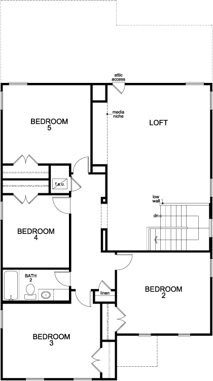 New Homes in Bulverde, TX - Plan 2960, Second Floor