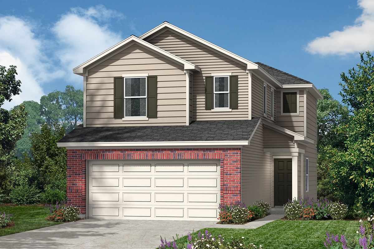 New Homes in San Antonio, TX - The Garrison Plan 1373 Elevation D