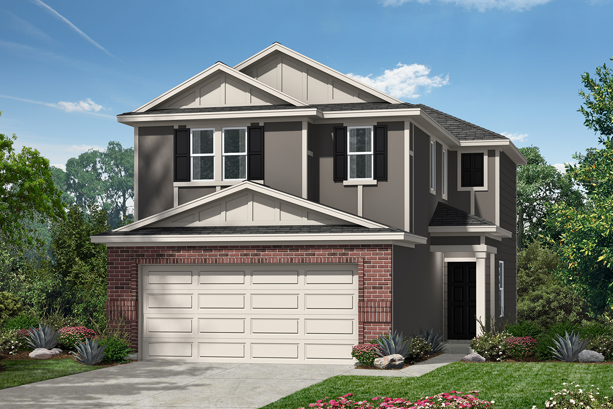 New Homes in San Antonio, TX - The Garrison Plan 1373 Elevation F