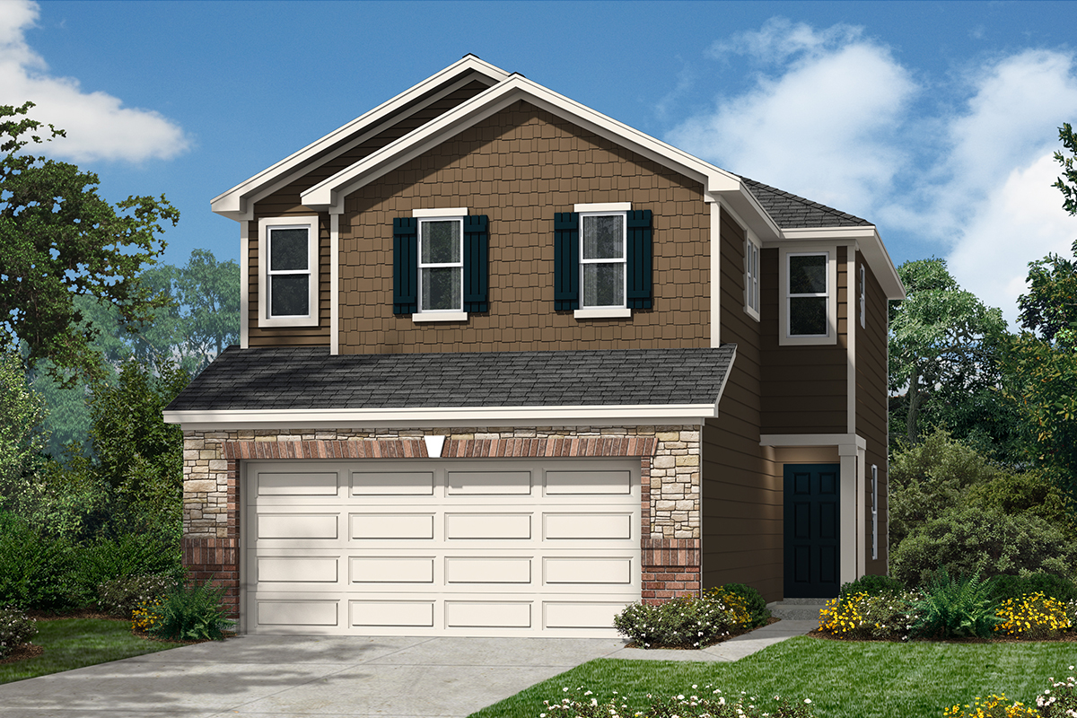 New Homes in San Antonio, TX - The Garrison Plan 1520 Elevation E