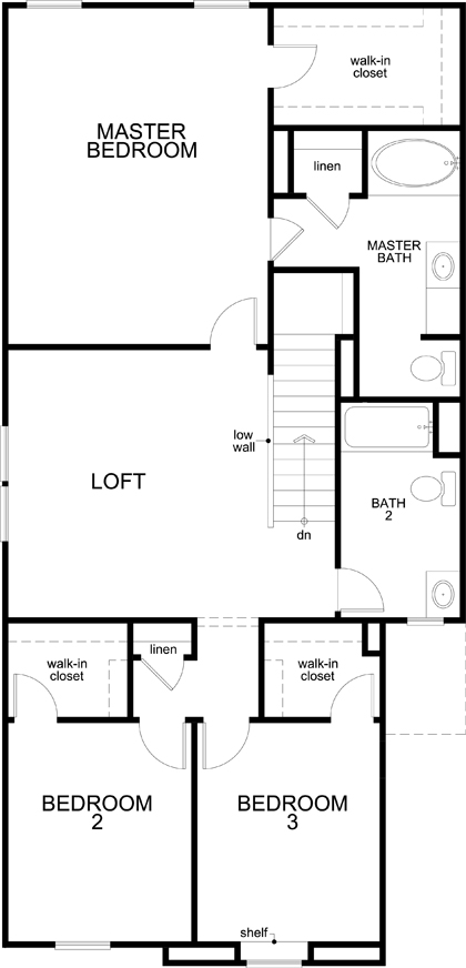 New Homes in San Antonio, TX - Plan 1930, Second Floor