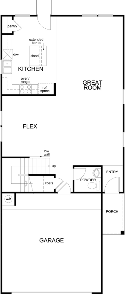 New Homes in San Antonio, TX - Plan 2080, First Floor
