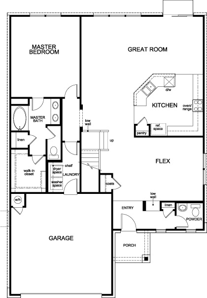 New Homes in Boerne, TX - Plan 2502, First Floor