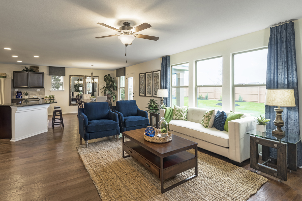 New Homes in San Antonio, TX - Northeast Crossing The 2403 Great Room