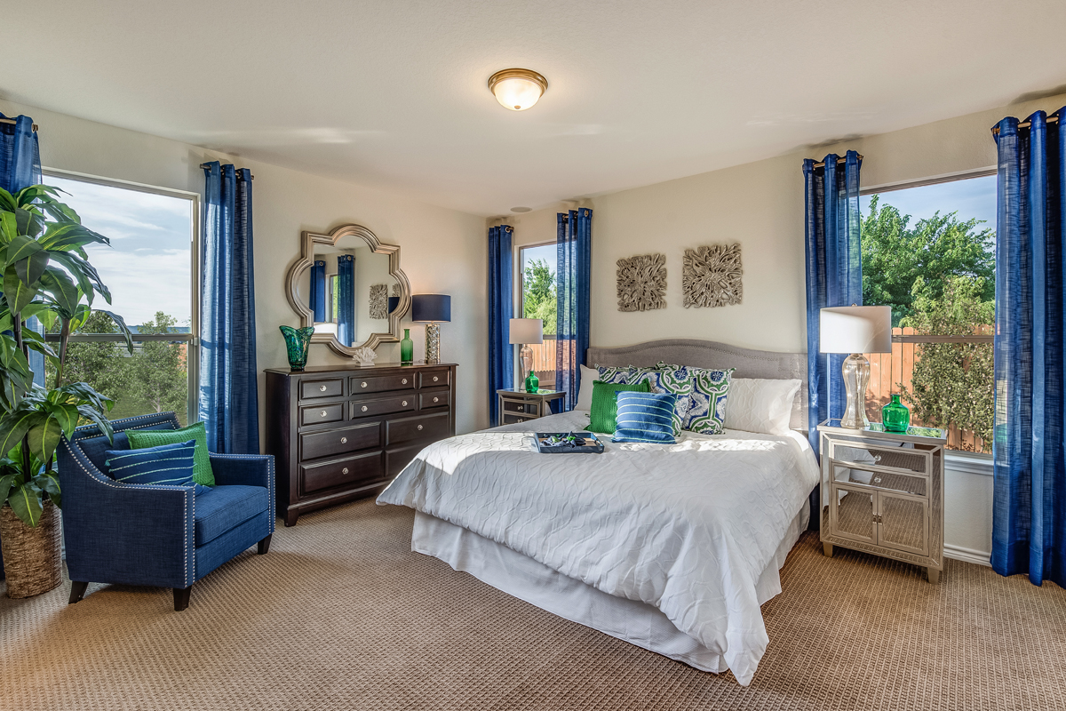 New Homes in New Braunfels, TX - Heritage Park The 1694 Master Bedroom