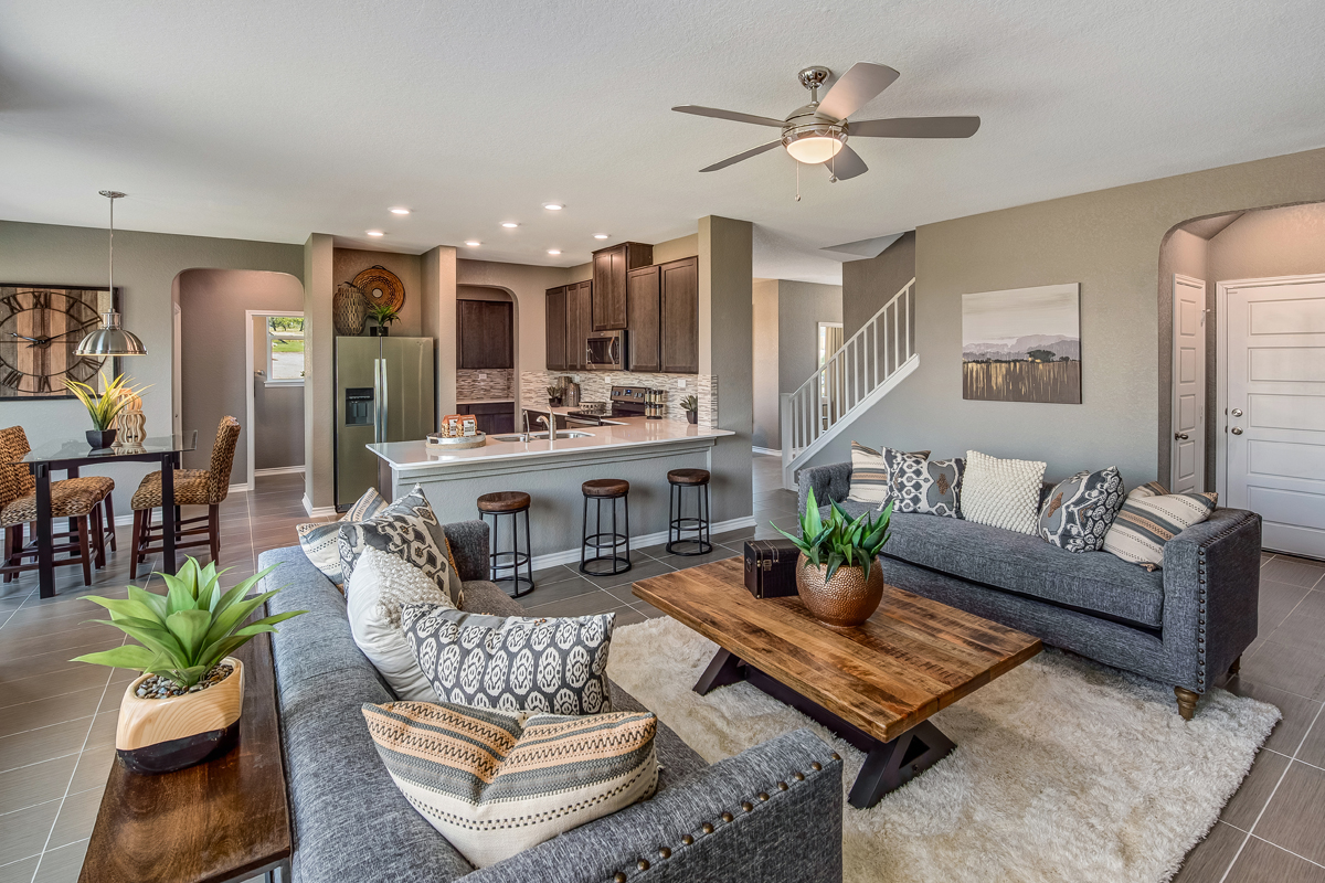 New Homes in New Braunfels, TX - Heritage Park The 2561 Great Room