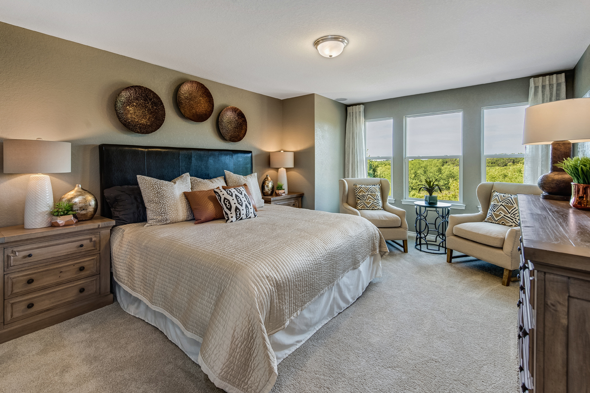 New Homes in New Braunfels, TX - Heritage Park The 2561 Master Bedroom