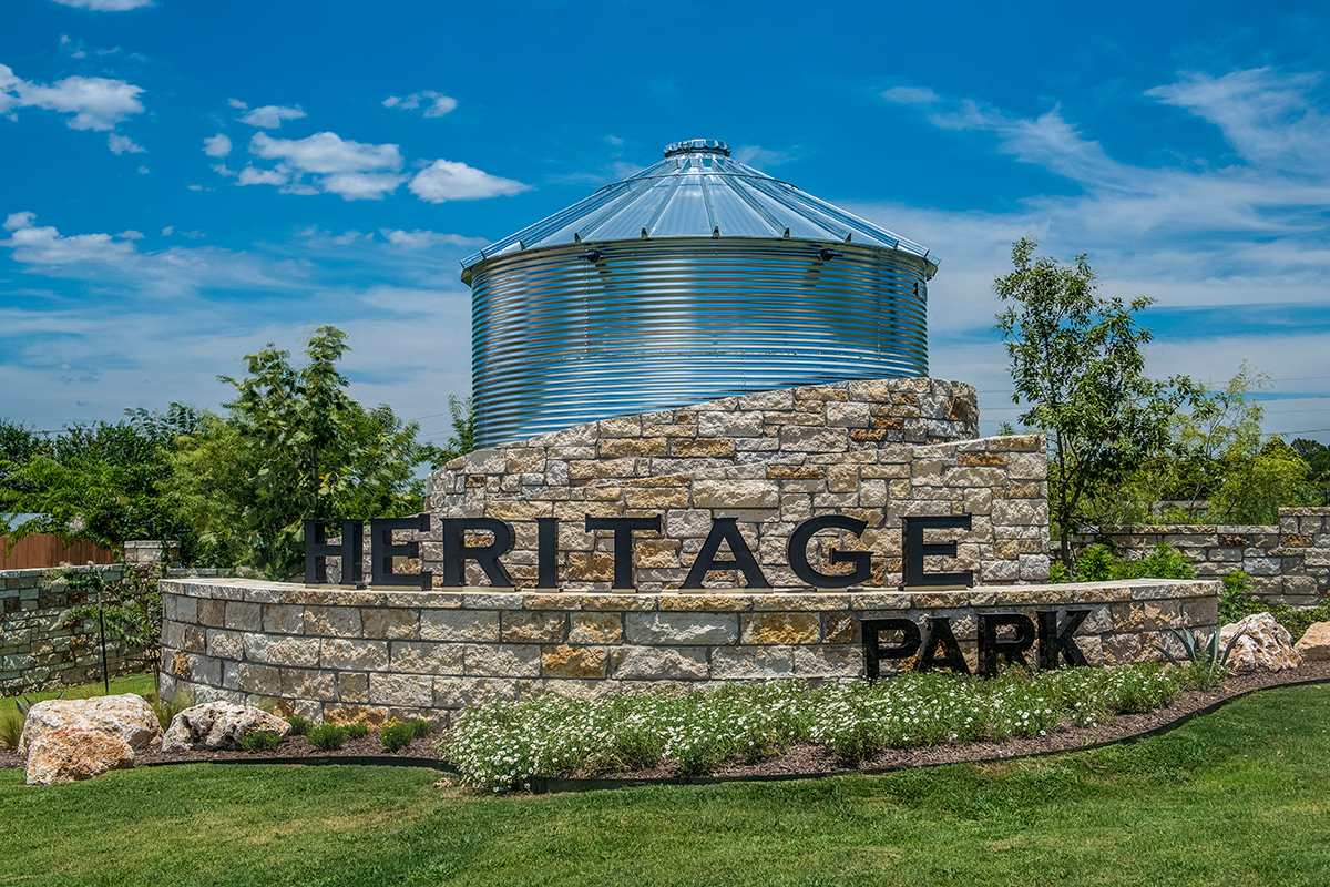 New Homes in New Braunfels, TX - Heritage Park Community Entry