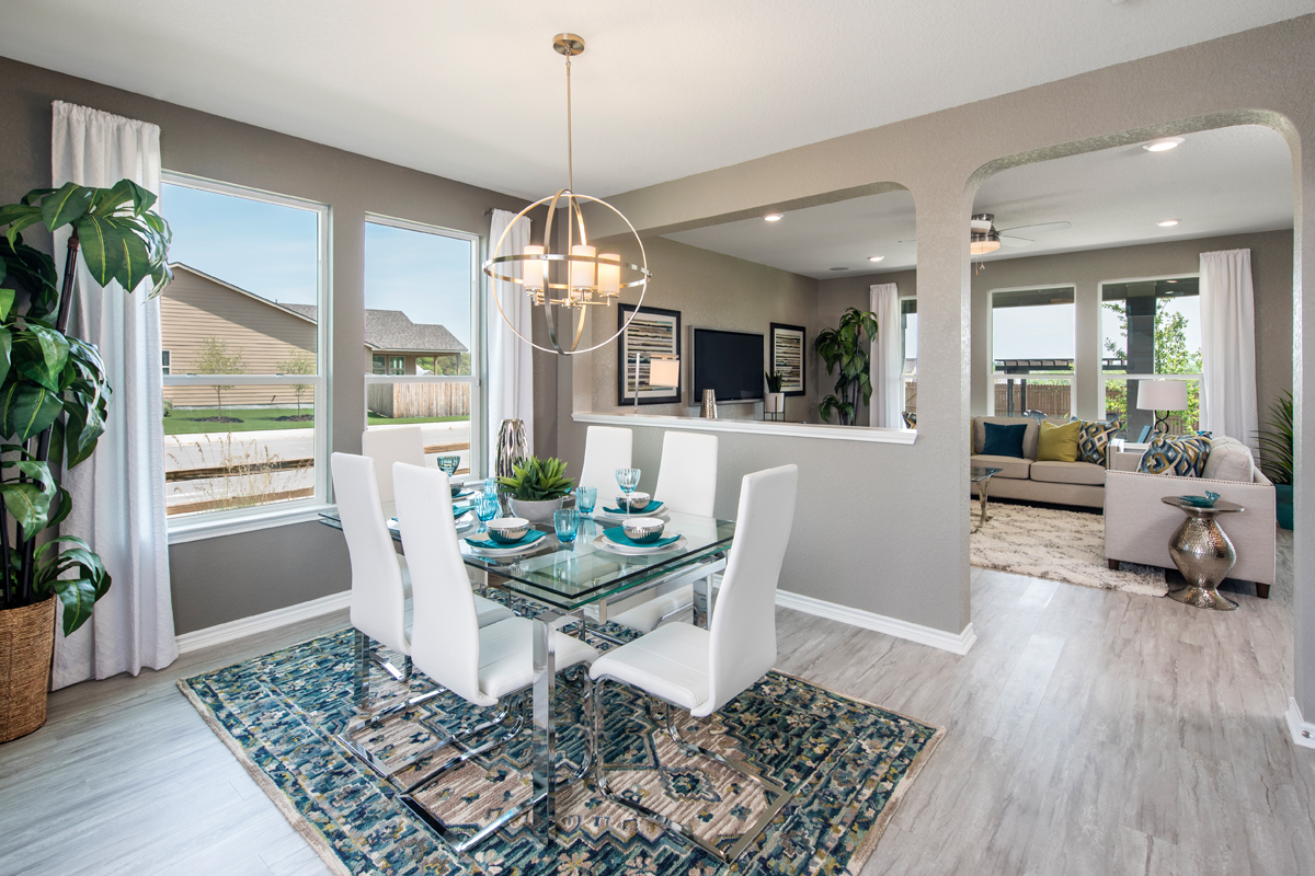 New Homes in San Antonio, TX - Hidden Bluffs at TRP The 2755 Dining Room