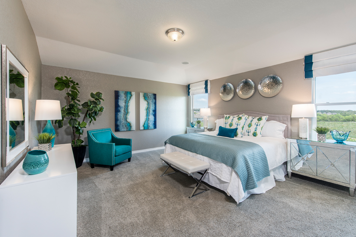 New Homes in San Antonio, TX - Hidden Bluffs at TRP The 2755 Master Bedroom