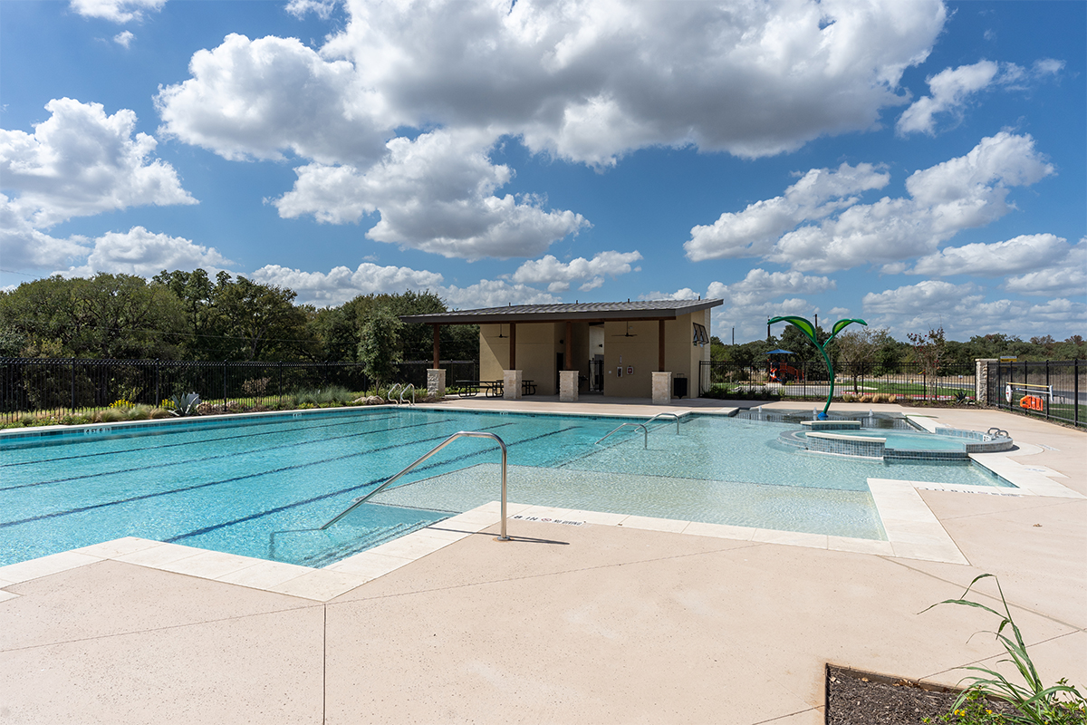 New Homes in San Antonio, TX - Hidden Bluffs at TRP Community Pool