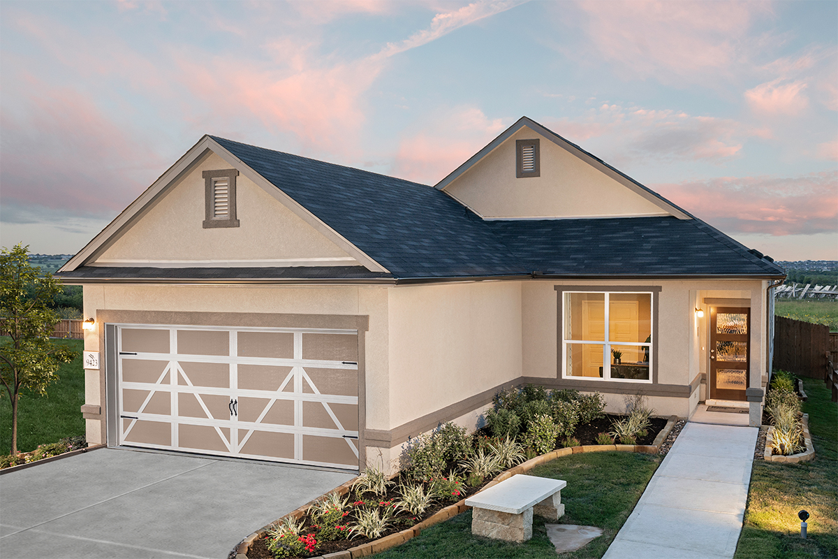 KB model home in Converse, TX