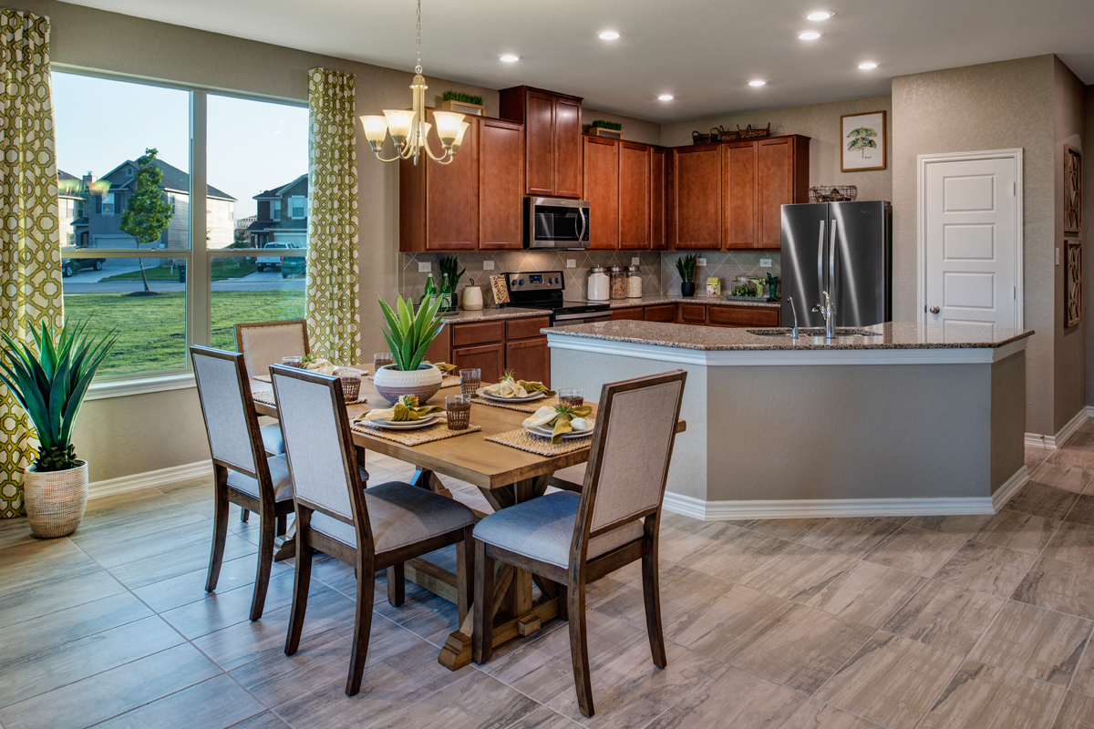 New Homes in New Braunfels, TX - Legend Point - The Reserves The 2004 Dining and Kitchen
