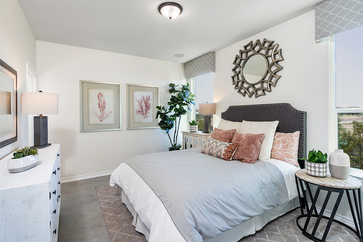 New Homes in Schertz, TX - Parklands The 1417 Master Bedroom as modeled at Marbella