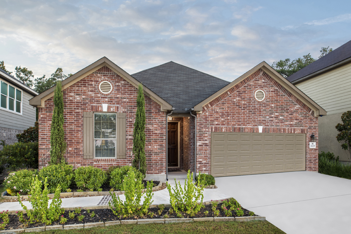 New Homes in San Antonio, TX - CrossCreek - Classic Collection The 2382 - Exterior as Modeled at Mirabel