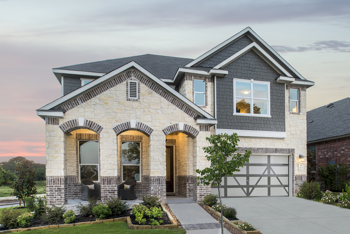 New Homes in New Braunfels, TX - Deer Crest - Classic Collection Plan 3023 as modeled at Mirabel