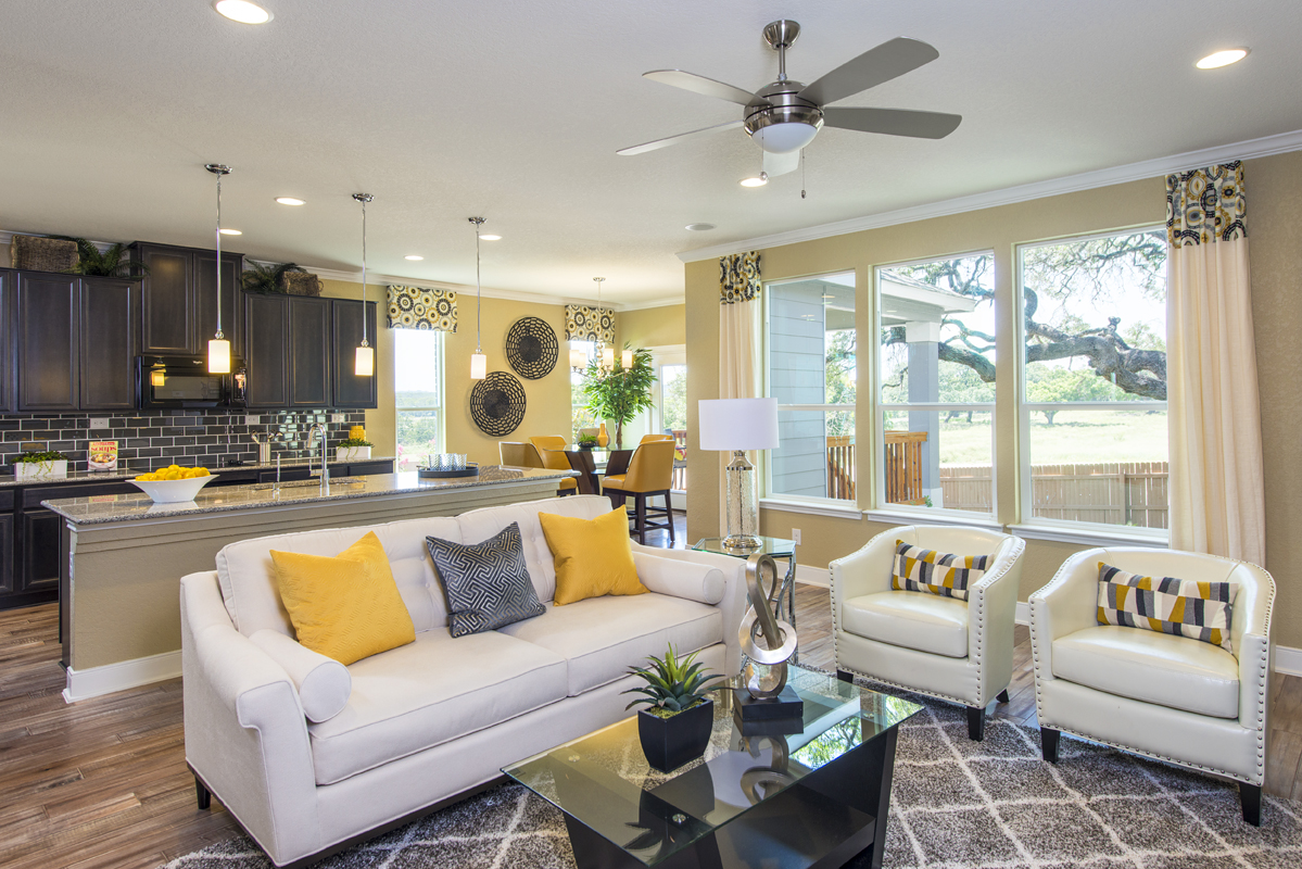 New Homes in Boerne, TX - Mirabel The 3023 Great Room