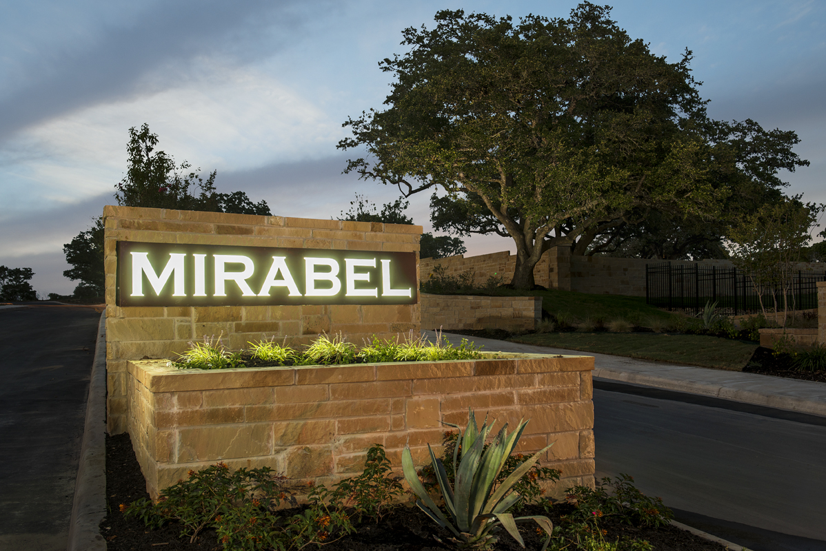New Homes in Boerne, TX - Mirabel Community Entry