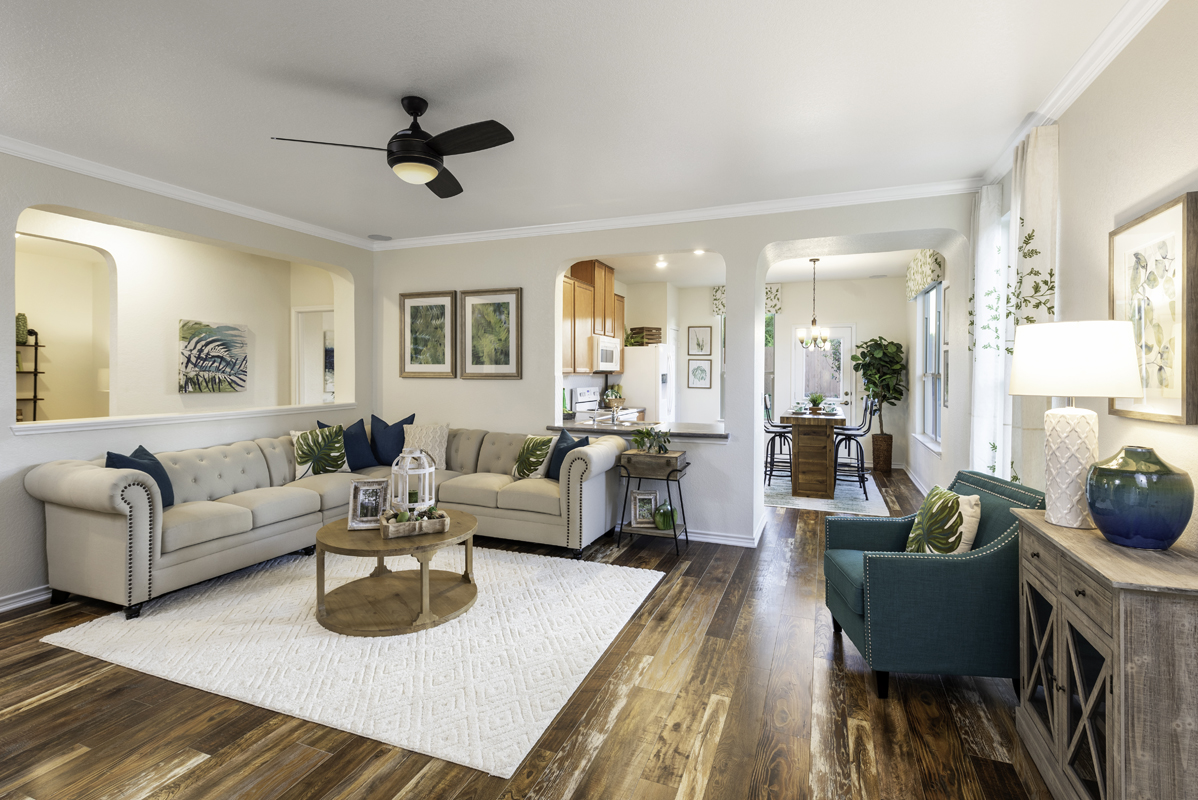 New Homes in San Antonio, TX - Northeast Crossing The 1516 Living Room
