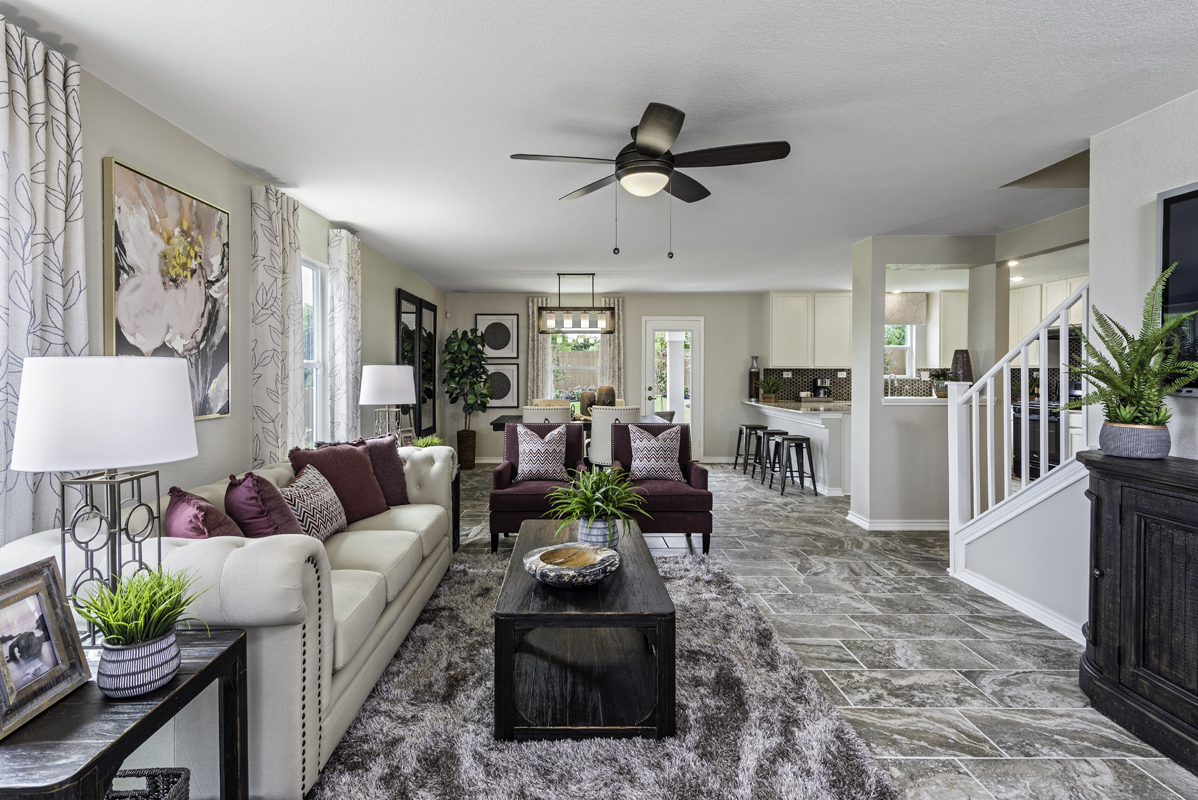 New Homes in San Antonio, TX - Northeast Crossing The 2088 Great Room