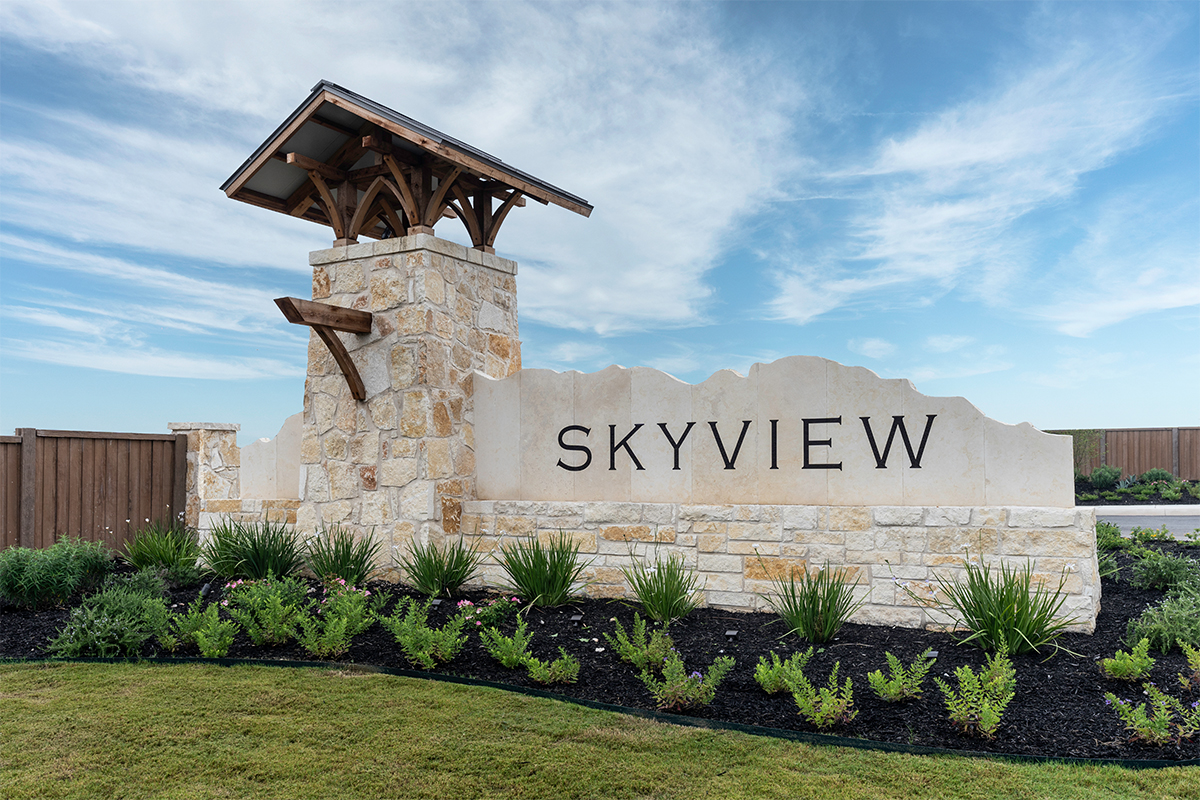 New Homes in Converse, TX - Sky View Entry Monument