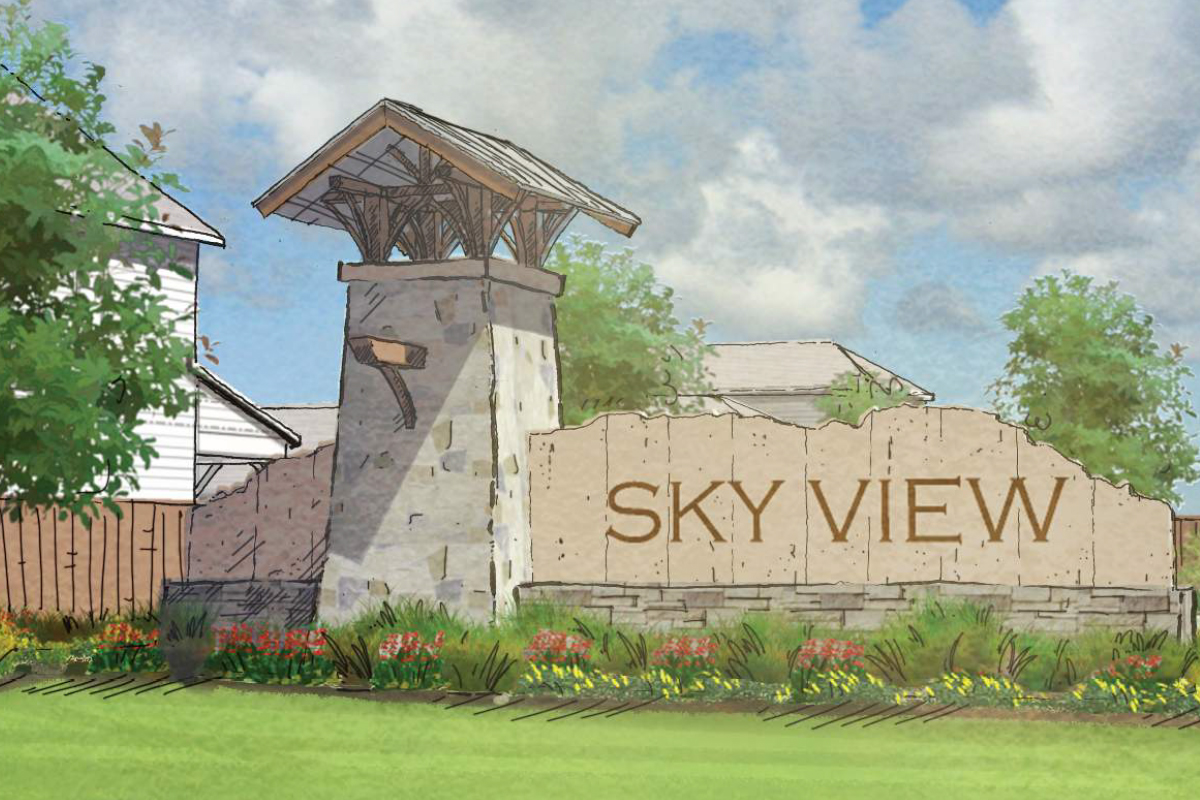 New Homes in Converse, TX - Sky View Proposed Entry Monument