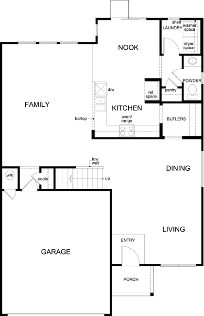 New Homes in San Antonio, TX - Plan 2561, First Floor