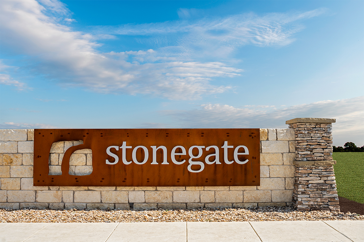 New Homes in San Antonio, TX - Stonegate Community Entry
