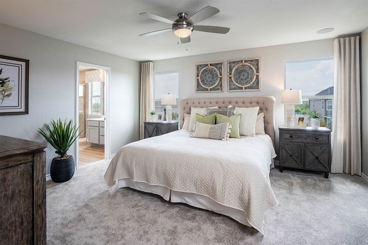 New Homes in San Antonio, TX - The Overlook at Medio Creek The 1772 Master Bedroom