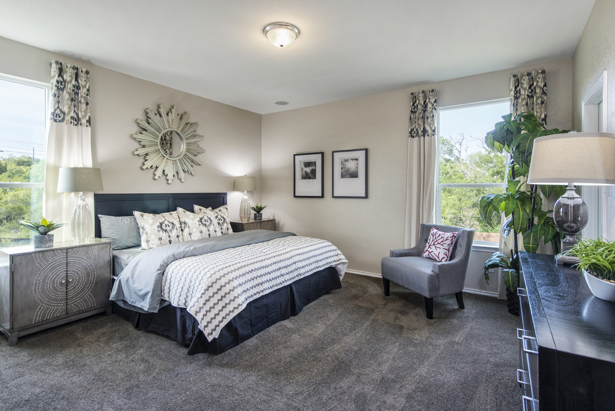 New Homes in San Antonio, TX - The Overlook at Medio Creek The 1892 Master Bedroom