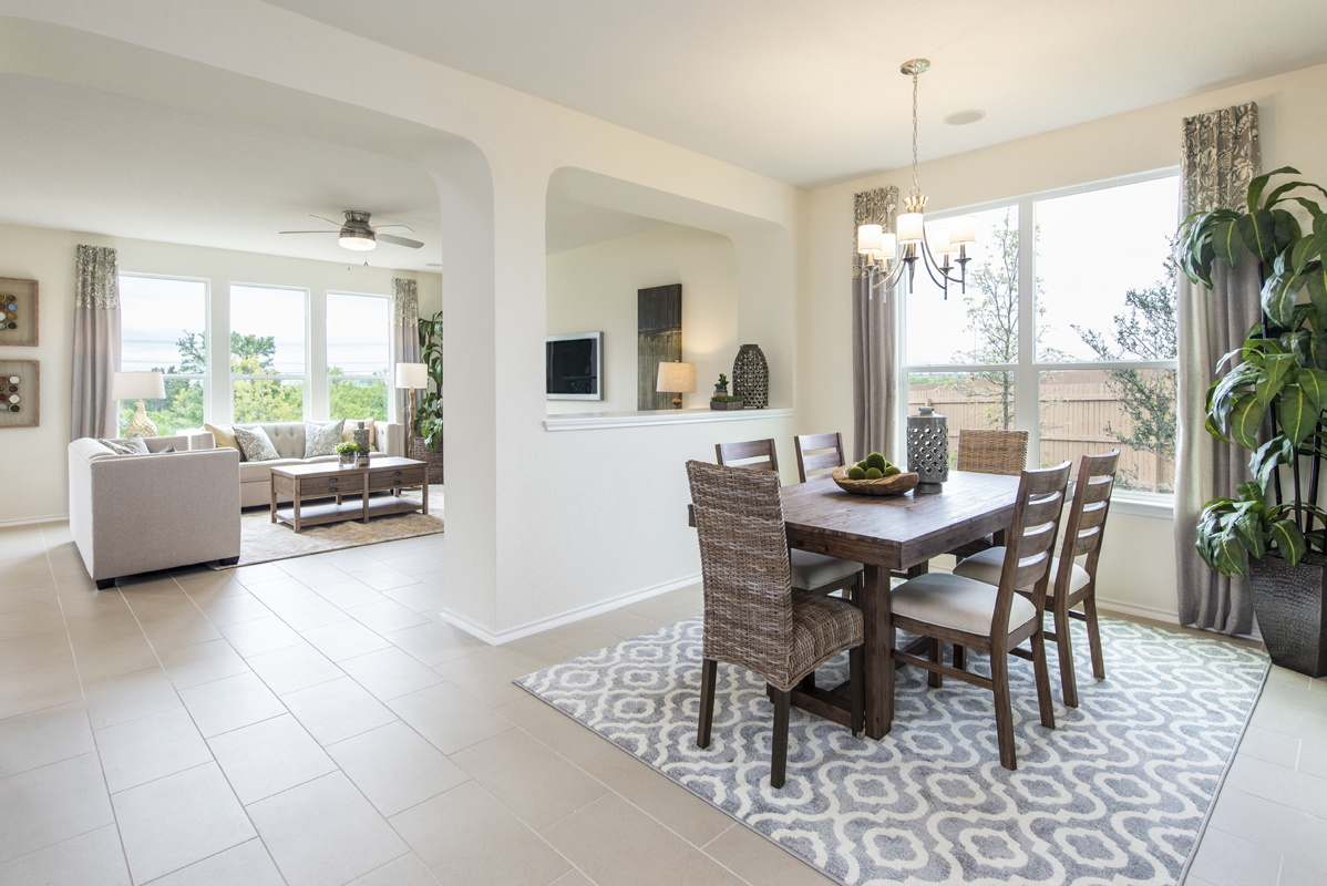 New Homes in San Antonio, TX - The Overlook at Medio Creek Plan 2708 Dining Room