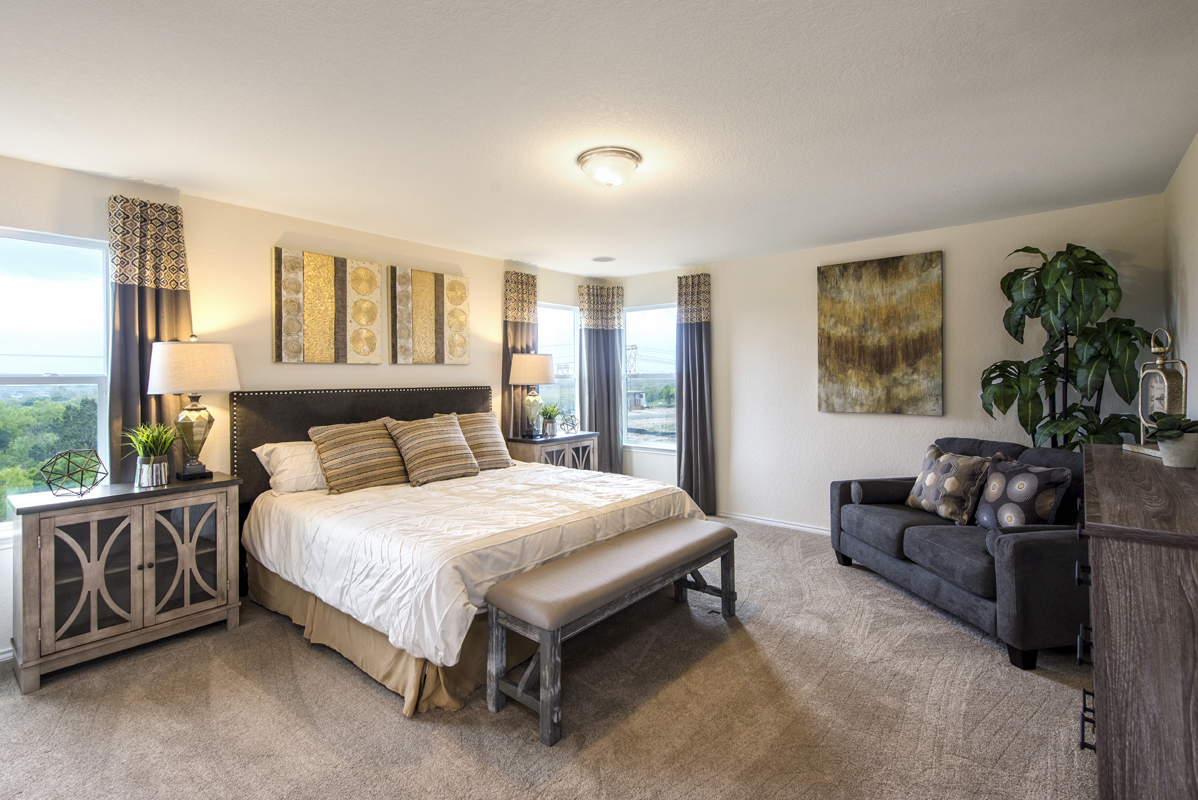 New Homes in San Antonio, TX - The Overlook at Medio Creek The 2708 Master Bedroom