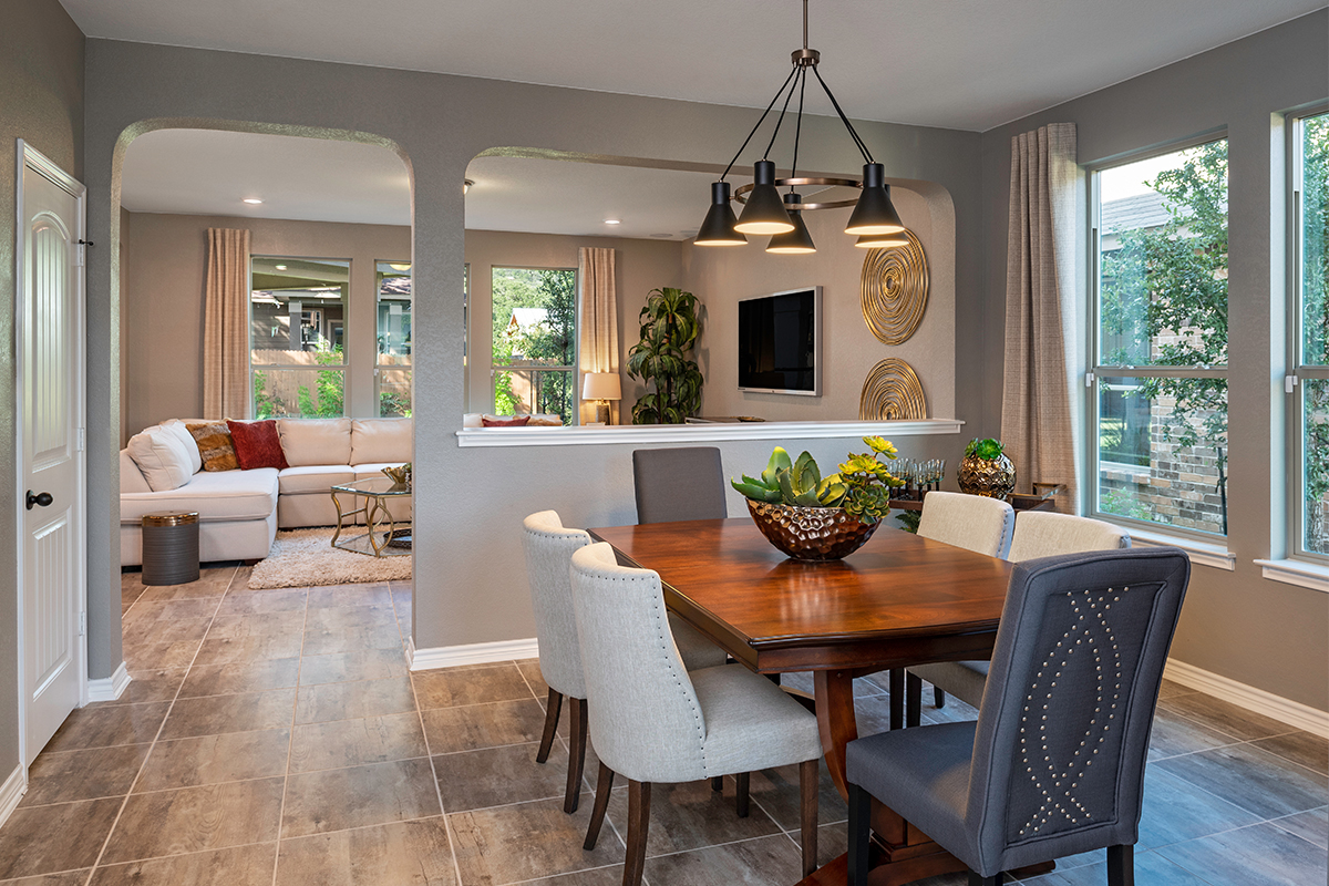 New Homes in Helotes, TX - The Ridge at Bandera The 2755 Dining Room