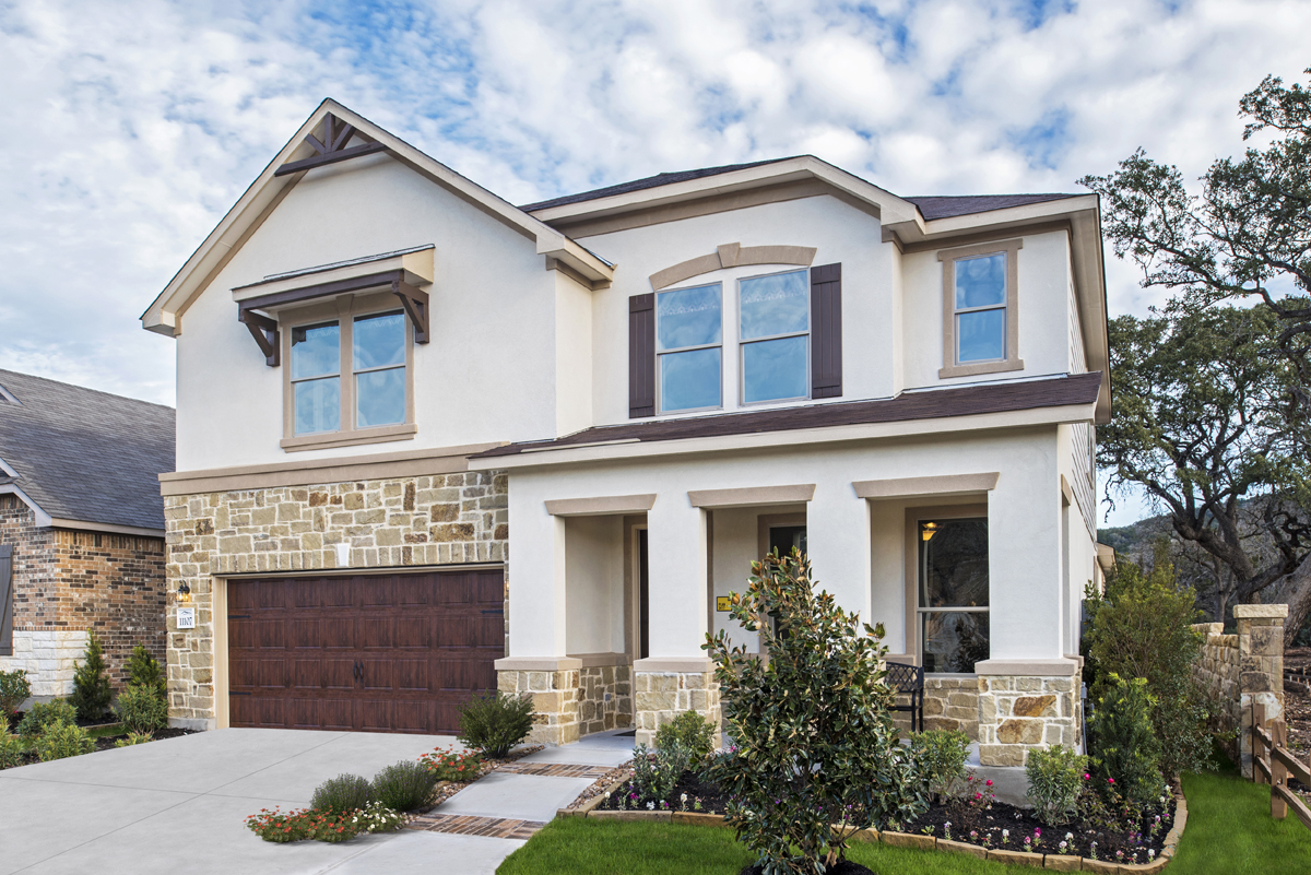 KB model home in Helotes, TX