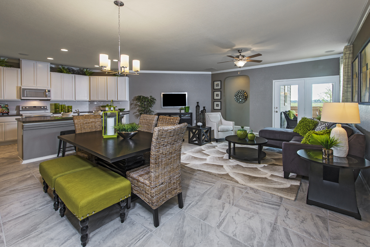 New Homes in New Braunfels, TX - West Village at Creekside - Heritage Collection The 1585 Great Room