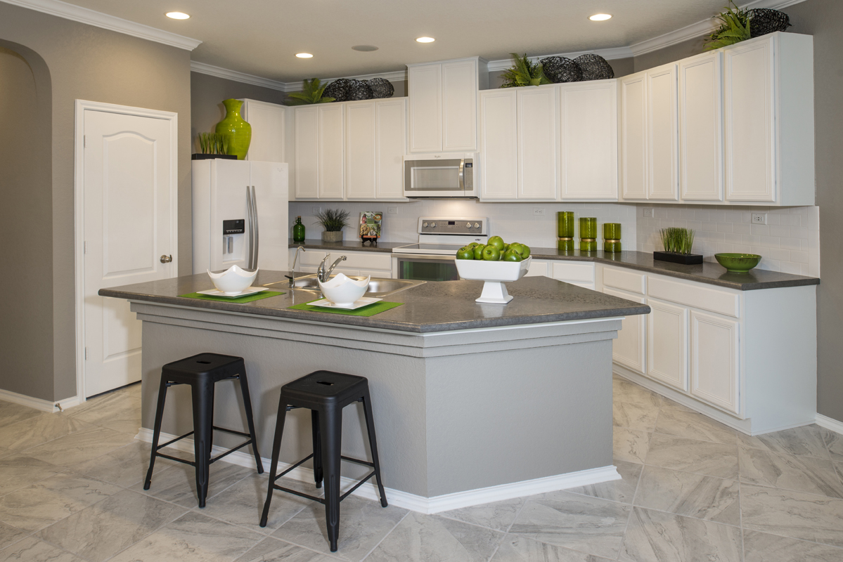 New Homes in New Braunfels, TX - West Village at Creekside - Heritage Collection The 1585 Kitchen