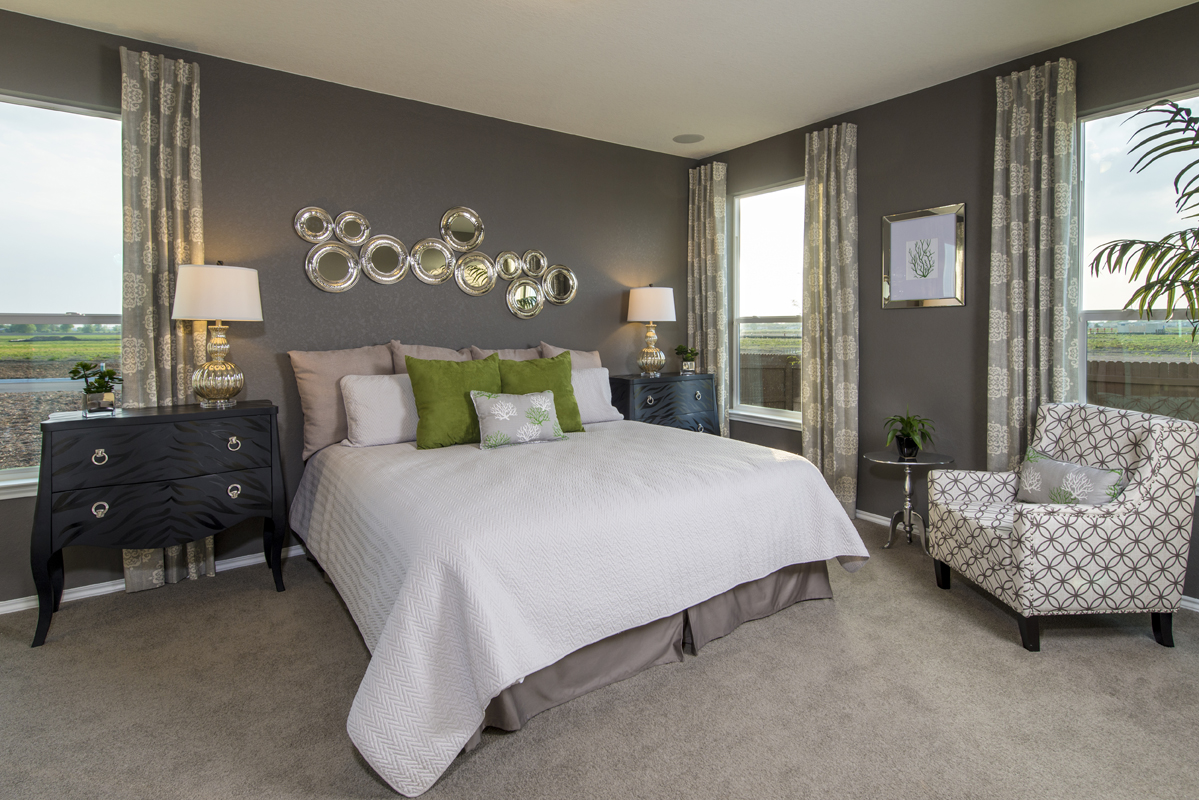 New Homes in New Braunfels, TX - West Village at Creekside - Heritage Collection The 1585 Master Bedroom