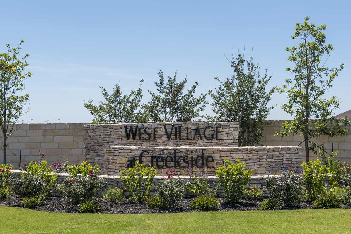 New Homes in New Braunfels, TX - West Village at Creekside - Heritage Collection Community Entry