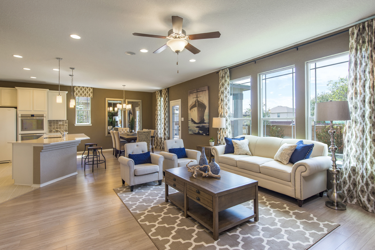 New Homes in Converse, TX - Windfield The 2403 Great Room