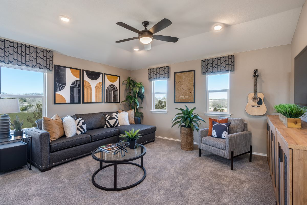 New Homes in Belton, TX - West Canyon Trails Plan 2403 Game Room